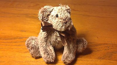 "Handmade Bear 13cm 5"" Jointed White Tipped Brown Fur Billington Bears Archie"
