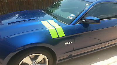 2015 2016 Mustang FAT Fender & hood Hash Mark Stripe Stripes PAIR GT350 GT V6 V8