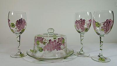 Разное CHEESE DISH WINE GLASSES STEMS