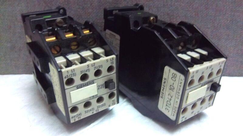 LOT OF 2 SIEMENS CONTACTORS 3TB42 17-7E USED 3TB42177E