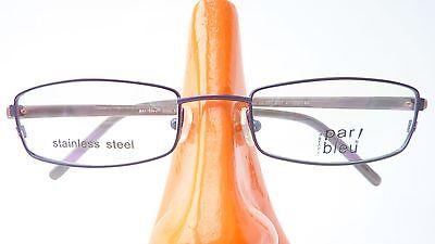 Brillengestell Metall Marken Fassung mit schmaler Form blau grau günstig Gr S