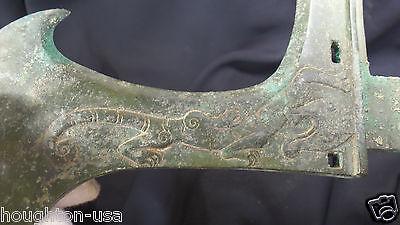 Ancient Chinese Ritual Bronze Tiger Halberd Ji Axe WZhou Dynasty 1100770 BC