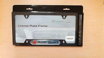 Audi Sport Carbon Fiber License Plate Frame OEM 8K0071801A