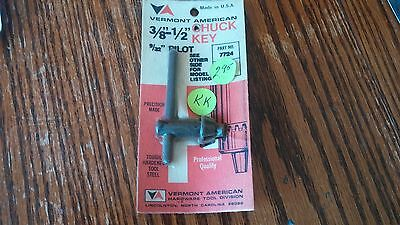 Vermont American replacement CHUCK KEY 7724 U-1533 3/8