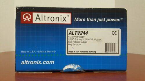 Altronix ALTV244 CCTV Power Supply, 4 Fused Outputs