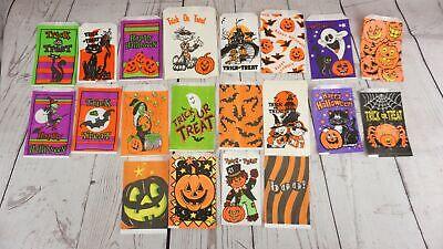 Halloween Lanterns Paper Bags (20 Vintage Halloween Paper Treat Bags New Old Stock Scarecrow Jack)