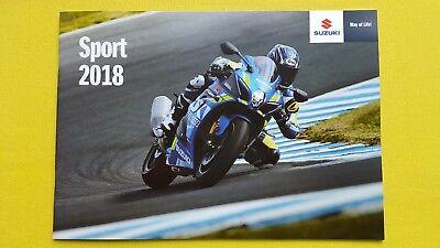 Suzuki motorcycle GSX-R1000 R1000R R750 R125 GSX bike sales brochure 2018 MINT