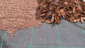 BLACK WEED MYPEX MULCH MATERIAL /GROUND COVER WEED CONTROL FABRIC 25M X 2M 105GM