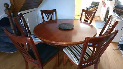 Dining Table 4 Chairs High Quality Timber
