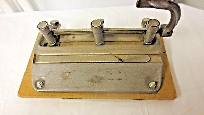 Vintage Master Products Usa Industrial Adjustable 3-hole Punch-series 5000