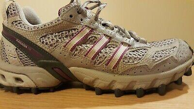 Adidas Kanadia TR Trail Running Trainers Ladies Size 5 UK, Grey/Purple