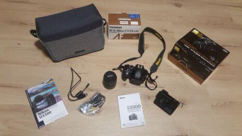 Nikon d 3300 Spiegelreflexkamera schwarz + Tasche + TAMRON 70-300mm LD 1:4,...