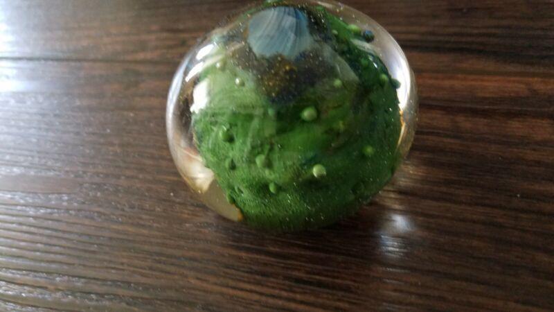 Mdina glass malta paperweight