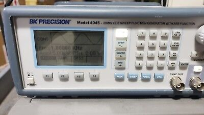 Bk Precision 4045 20 Mhz Dds Sweep Function Generator With Arb Function