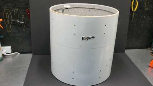 "VINTAGE ROGERS FLOOR TOM SHELL 16x16"" NEW ENGLAND WHITE FULLERTON 1972 SERIAL"