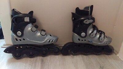 4518fe75cba33 British Knights kids silver roller skates size 3-4  36-37