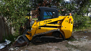 Skid steer post track bobcat forklift rough terrain hire (3 ton) Brisbane Region Preview