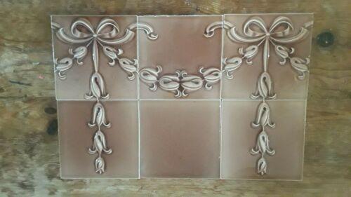 46 Nouveau Antique Majolica Tiles English 6x6