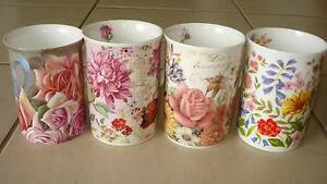 ❀✿❀ Beautiful Bulk Lot of Floral Mugs❀✿❀ Beaudesert Ipswich South Preview