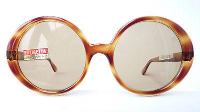 TrueVintage Sonnenbrille getönte echte Gläser braun Damen übergroße Gläser sizeL