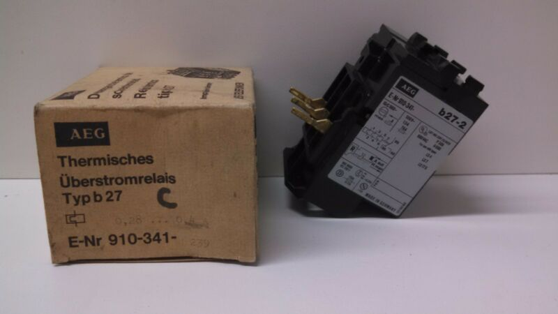 NEW OLD STOCK AEG .4A THERMAL OVERLOAD RELAY E-NR 910-341-239 B27-2