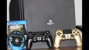 PS4 PRO, 2 CONTROLLERS & 2 GAMES ***LOWERED PRICE***
