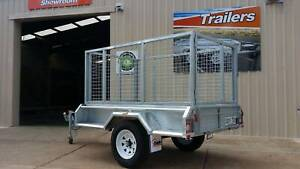 7x4 FULLY GALV DIPPED  TRAILER WITH CAGE Para Hills West Salisbury Area Preview