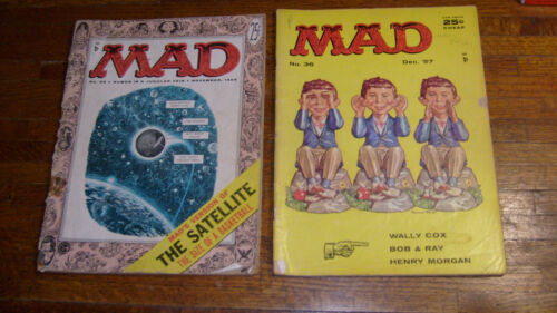 "MAD MAGAZINE #26 & #36 , ""POOR"" and ""FAIR"""