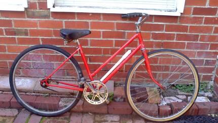 VINTAGE RED LADIES BICYCLE