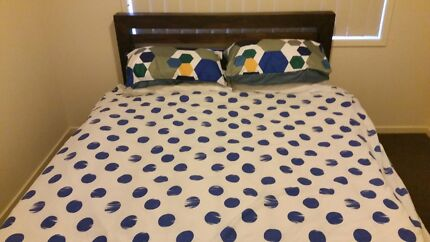 Queen bed with matching side tables