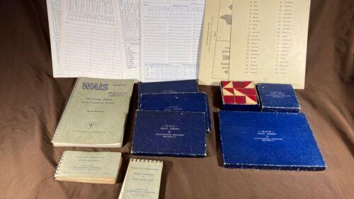 Vintage WAIS Wechsler Intelligence IQ Test Kit Psychological Corp.
