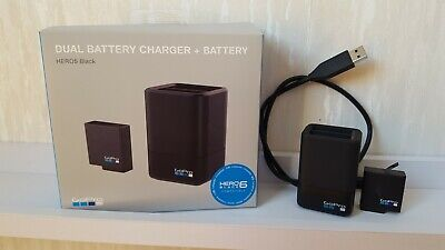 GoPro hero 5 Black duel battery charger with 1 battery boxed, hero 6 compatible