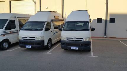 TOYOTA HIACE CAMPERVAN 4 SEATER SLEEPS4  12 MTHS WARRANTYnewshape Wangara Wanneroo Area Preview