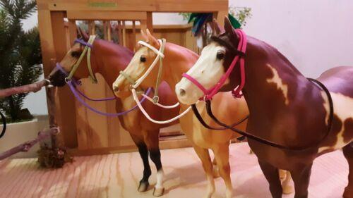 Set of 3 handmade bridles for breyer horse or peterstone bridle tack lot 2