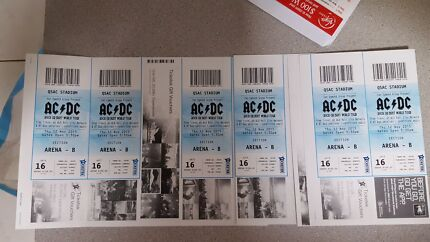 AC/DC TICKETS (6x tickets)12th November  $160 each  Caboolture South Caboolture Area Preview
