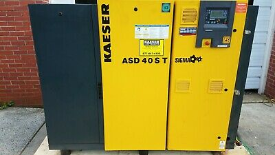 Kaeser Asd 40 S T 40hp Rotary Screw Air Compressor W Built-in Dryer Sigma 2