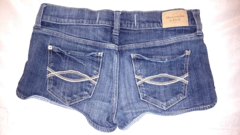 EUC! Abercrombie & Fitch Perfect Stretch Blue Jean Shorts Size 2 W 26 Ladies NY