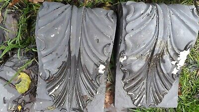 A pair of decorative slate finials