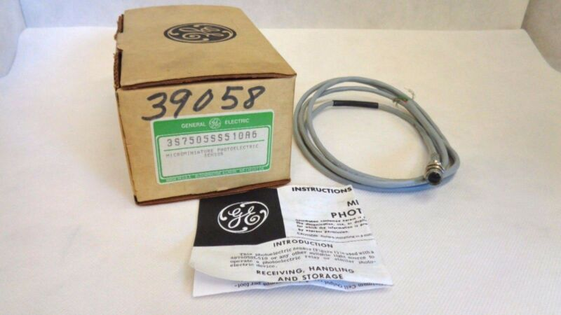 NEW GE GENERAL ELECTRIC 3S7505SS510A6 MICROMINIATURE PHOTOELECTRIC SENSOR