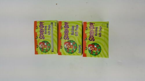 3 ROLLS SCOOBY DOO HOLIDAY GIFT TAGS CHRISTMAS NON-SELF ADHESIVE MUST USE TAPE
