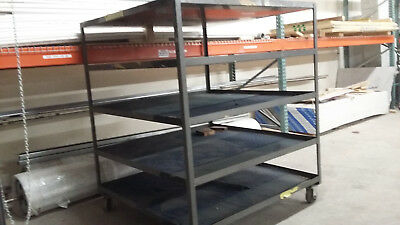 Rolling Cartshelving Industrial Welded Shelves Steel Heavy Duty