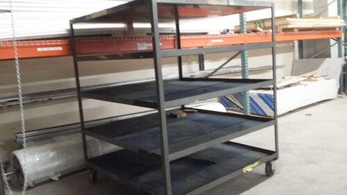 """Rolling Cart / Shelving Industrial Welded Shelves Steel Heavy Duty 56.5"""" x 56.5"""""""