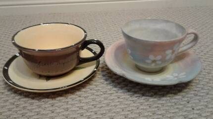 Decorative cups and saucers, very pretty