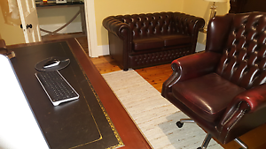 Chesterfield leather office suite $1800 neg St Peters Norwood Area Preview