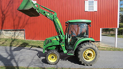 2010 John Deere 4320 4x4 Compact Utility Cab Tractor W Loader Hydro 1050 Hrs