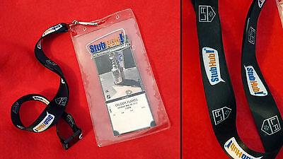 La Kings Nhl Hockey Stubhub Lanyard Clear Plastic Ticket Holder Wallet Neck Cord