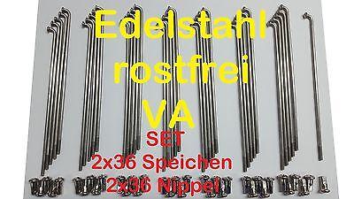 Speichen f. Simson Speichensatz Set Edelstahl 143,5 mm Nippel S50 S51 16 Zoll