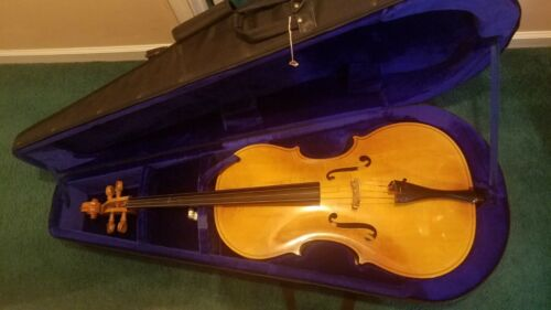 Full Size Engelhardt 4/4 Cello with Bow and ProTec Case in Excellent Condition