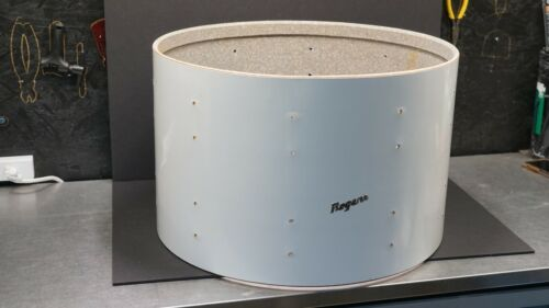 "VINTAGE ROGERS BASS DRUM SHELL 22x14"" NEW ENGLAND WHITE FULLERTON 1972 SERIAL"