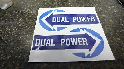 Ford Dual Power Decals. Vinyl. Set Of 2. 7000 7600 7710 8600 8700 More